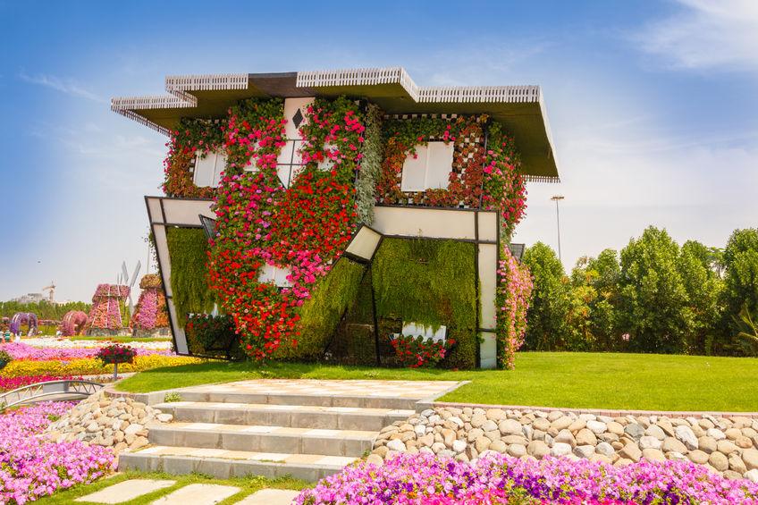 Upside Down House Dubai Miracle Garden
