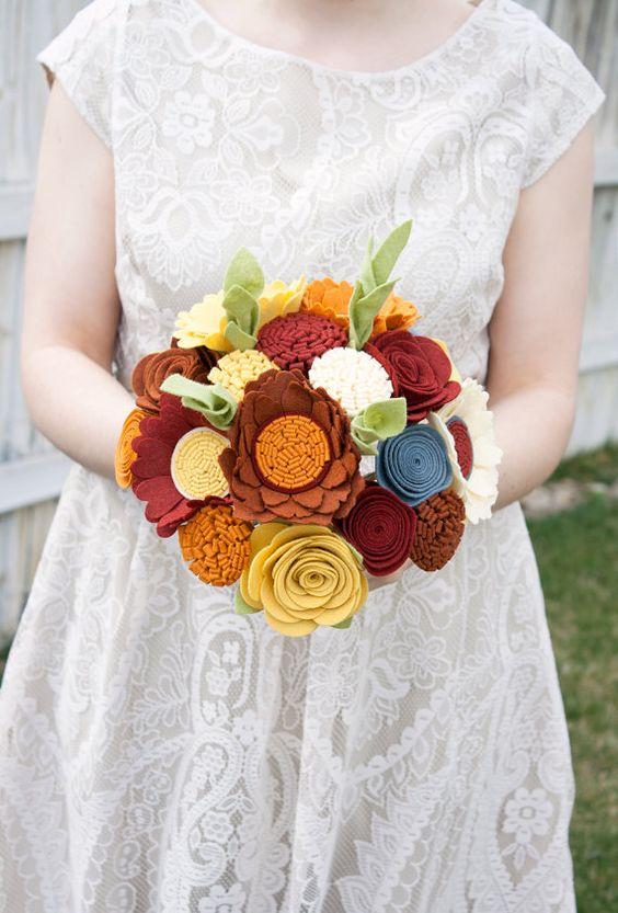 felt bouquet etsy com